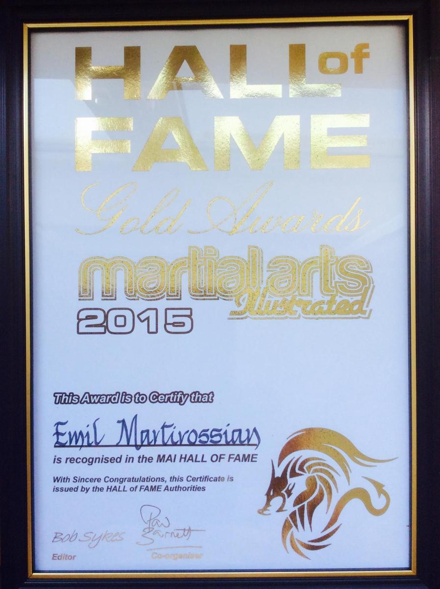 Hall of Fame Award 2015